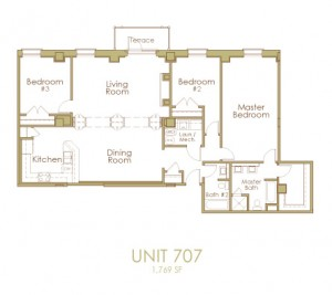 Ginter Place Condos -- Unit 707