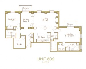 Ginter Place Condos -- Unit 806